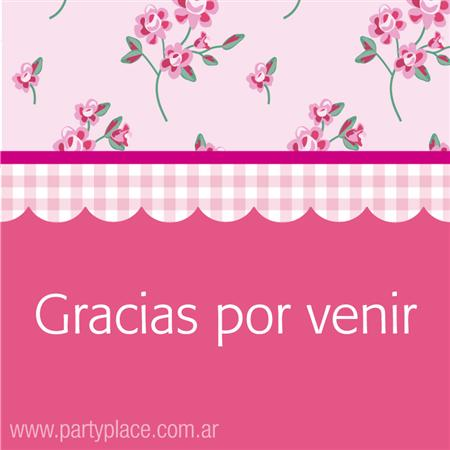 Tarjetitas Tea Party 20u