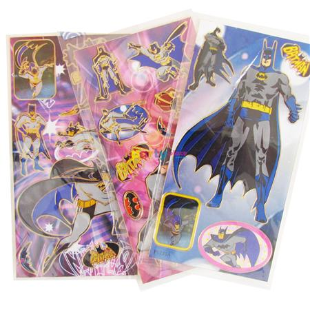 Planchas de stickers surtidas Batman 10u