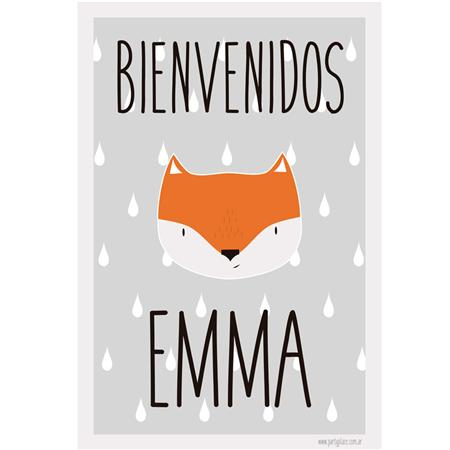 Afiche cartel Little Fox. Personalizado