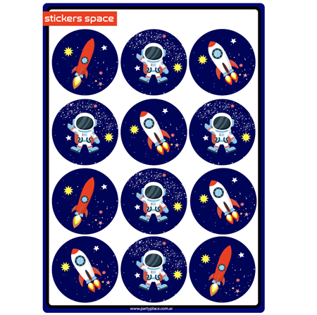 Stickers plancha Space 20u