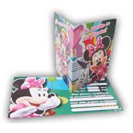 Invitaciones Minnie 10u
