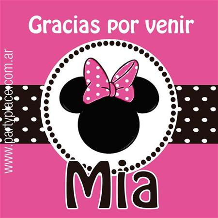 Stickers Minnie 16u Personalizadas