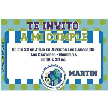 Invitación Monsters University. Personalizadas 8u