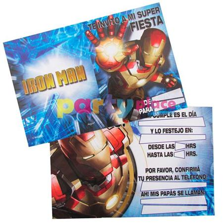 Invitaciones Iron Man 10u