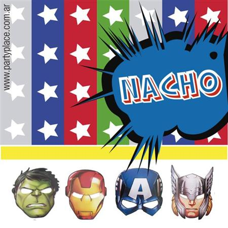Stickers The Avengers MOD 1 16u Personalizadas