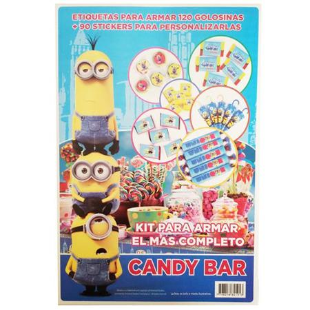 Candy Bar Kit. Minions (etiquetas y stickers)