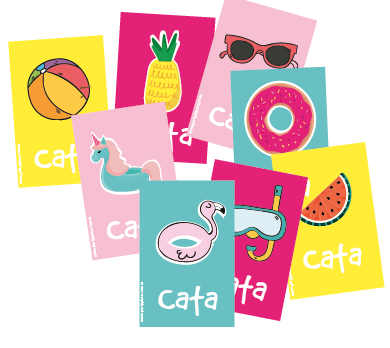 Stickers rectangulares grandes Summer 16u