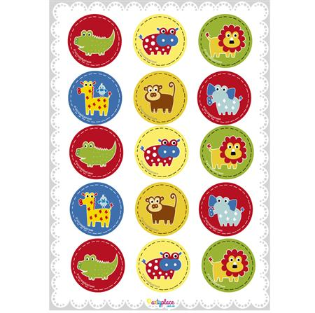 Stickers plancha Animalitos 15u