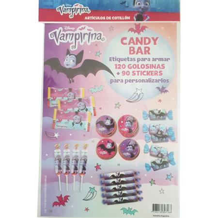 Candy Bar Kit. Vampirina (etiquetas y stickers)