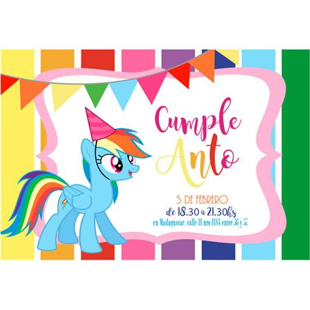 Invitacion My Little Pony 8u Personalizadas