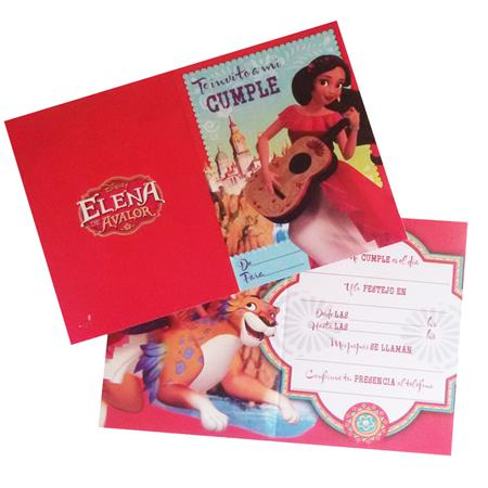 Invitaciones Elena de Avalor 10u