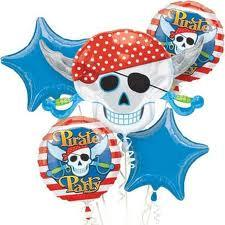 Set de globos metalizados piratas