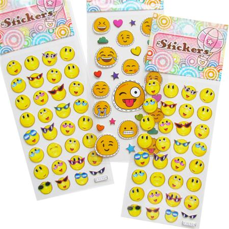 Planchas de stickers emoticones 10u