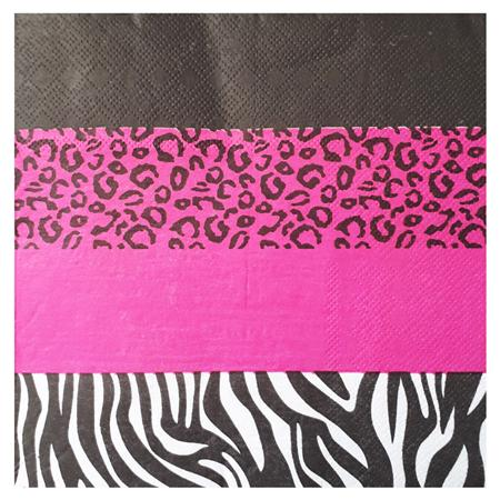 Servilleta grande animal print fucsia