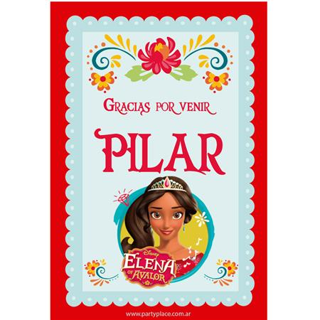 Stickers rectangulares Elena de Avalor 14u