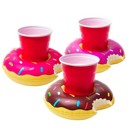 Inflable posavasos Donuts (colores surtidos)